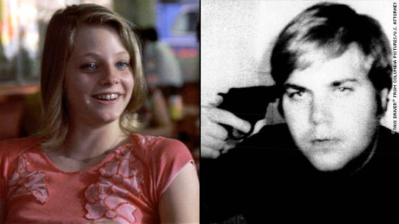 """Before he shot President Reagan in 1981, John Hinckley Jr. became obsessed with actress Jodie Foster after seeing her film """"Taxi Driver"""" at least 15 times. Defense psychiatrists said Hinckley played Russian roulette and took this photo of himself."""