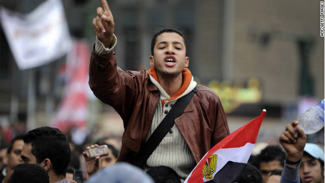 Demonstrators worry the military, which would continue as Egypt's top authority until a president is in place, wants to keep power.