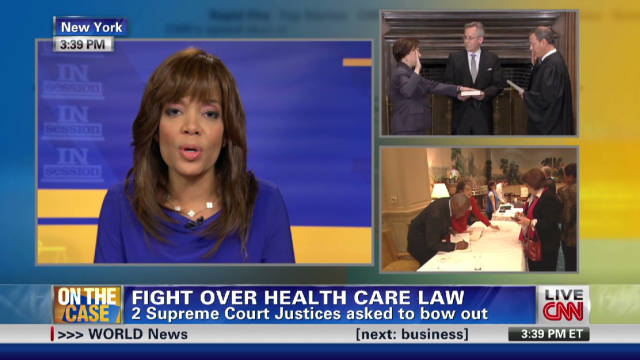 Should justices bow out on health care case?