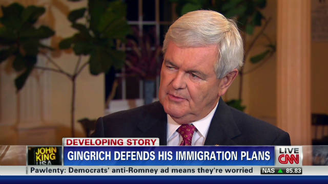 Gingrich talks immigration, Bachmann