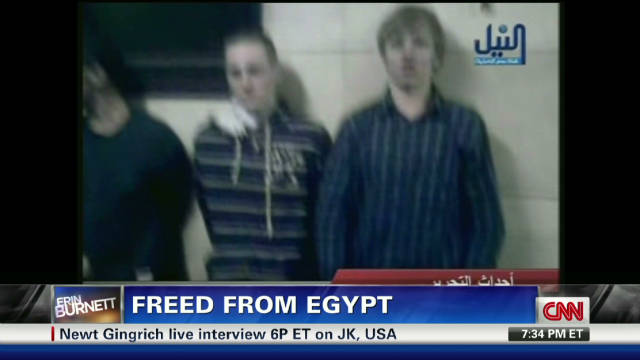 American student freed from Egypt