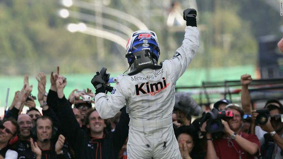 Raikkonen's most successful season with McLaren came in 2005, where he claimed victory in seven of the year's 19 races. But once again he could only finish second in the world championship, with Spain's Fernando Alonso claiming the first of his back-to-back world championships.