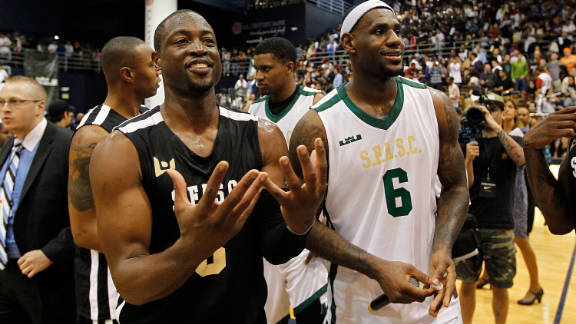 Dwyane Wade and Lebron James will be allowed to return to the Miami Heat facilities starting on Thursday.