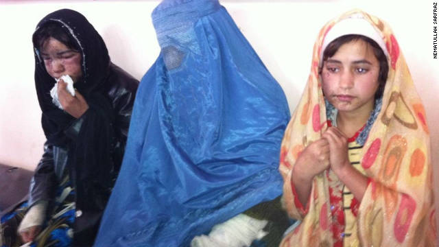 An Afghan family of five were sprayed with acid when the father rejected a man's offer to marry his teenage daughter.