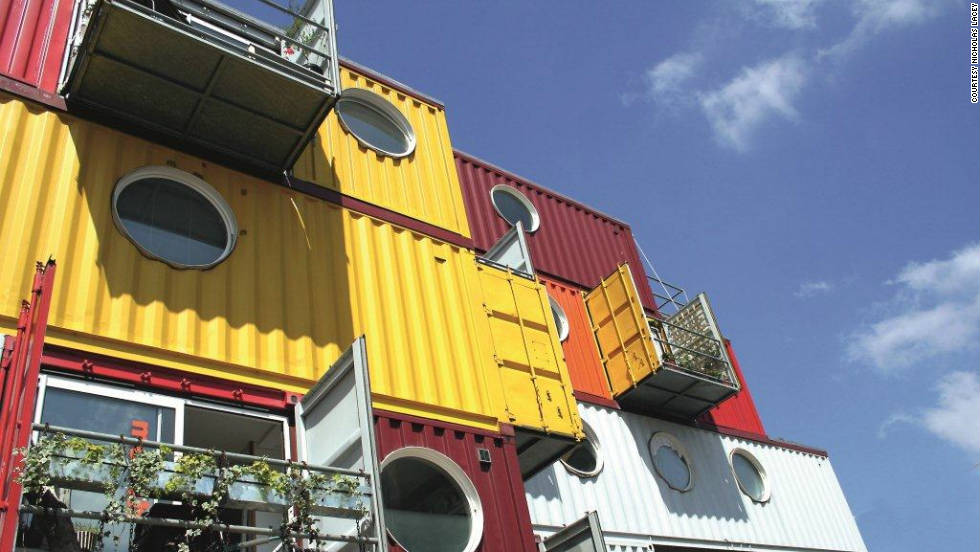 But it's not the first time shipping containers have found a new life on London soil. This colourful beehive of offices, ateliers and apartments -- built in 2002 -- was among the first container architecture projects to gain worldwide attention.