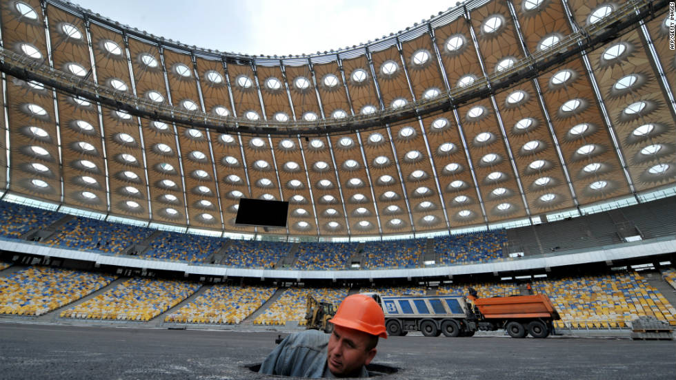 The Olympic Stadium in Kiev has been revamped at an estimated cost of $681 million, according to German broadcaster Deutsche Welle. It opened on November 11 with a game between Ukraine and Germany.