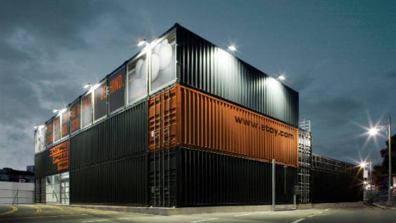 """A monolith of stacked shipping containers in South Koreas's """"Kunsthalle Gwanju"""" has become a popular hub for  exhibitions, concerts, workshops and other cultural events."""
