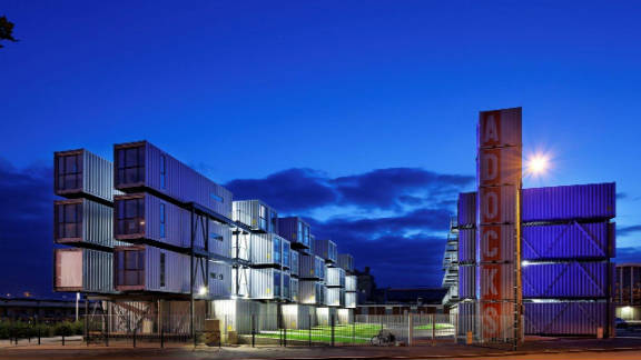In the French city of Le Havre, container dorms are have been introduced to solve the shortage of apartments on the local university campus.