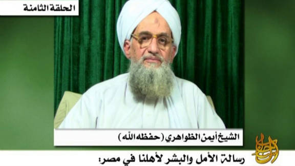 This still from video released Thursday by the SITE Intelligence Group shows al-Qaeda leader Ayman al-Zawahiri.