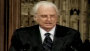 Billy Graham delivers 9/11 sermon (2001)