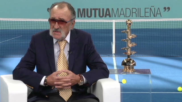 Madrid's new blue clay court