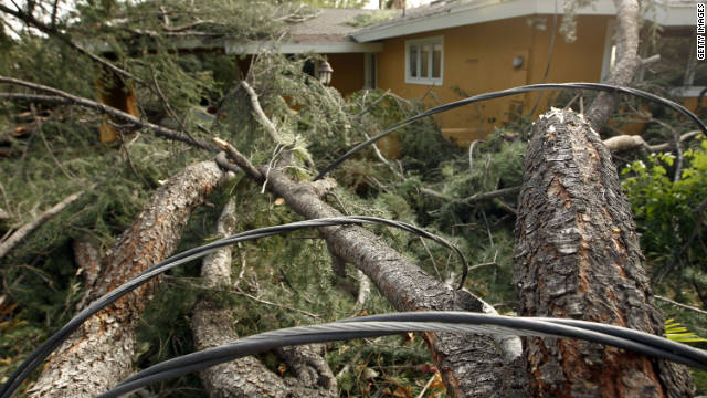 Intense winds over the past week left thousands of people without electricity in Southern California.