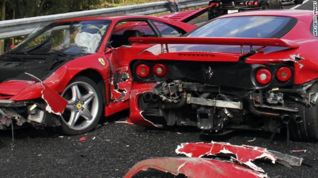 Traffic Crash In Japan Takes Out 8 Ferraris Lamborghini Cnn