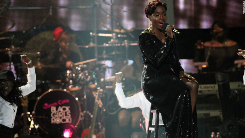 Singer Estelle sings at Black Girls Rock! 2011 at the Paradise Theater on October 15, 2011 in New York City.