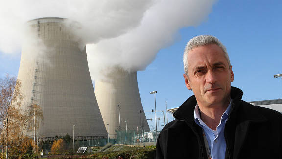 Plant director Herve Maillart stands outside the nuclear facility at Nogent-sur-Seine, southeast of Paris.