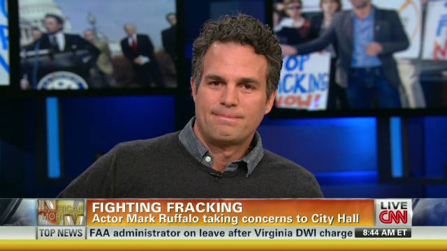 Actor Mark Ruffalo fights fracking