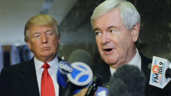 Former House Speaker Newt Gingrich was one of the GOP presidential candidates to meet with Donald Trump.