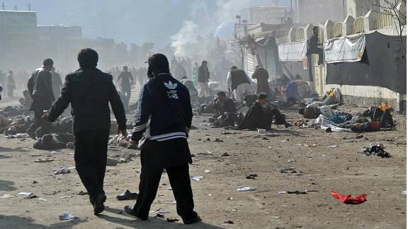 Terrorist attacks in Kabul and Mazar-e Sharif on Tuesday killed dozens of people.
