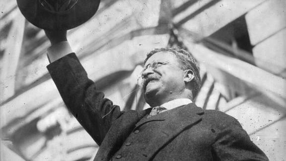 President Theodore Roosevelt, shown in 1912, succeeded William McKinley after his assassination. He was also the first American to receive the Nobel Peace Prize,  awarded for mediation in the Russo-Japanese war.