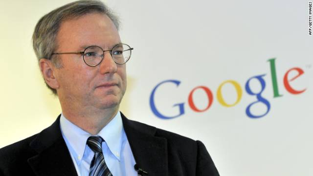 :  Google executive chairman Eric Schmidt is seen during a news conference at the main office of Google Korea in Seoul on November 8, 2011