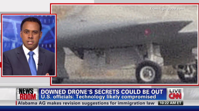Downed drone's secrets could be out