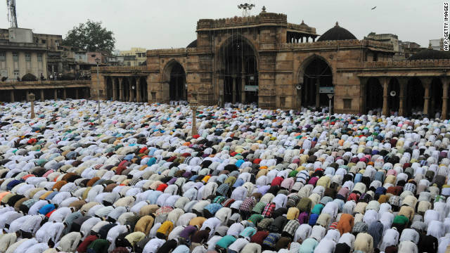 The new smartphone has a compass directing India's 180 million Muslims towards Mecca for prayers.