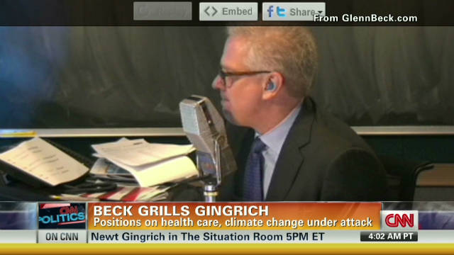 2011: Glenn Beck grills Gingrich on key issues