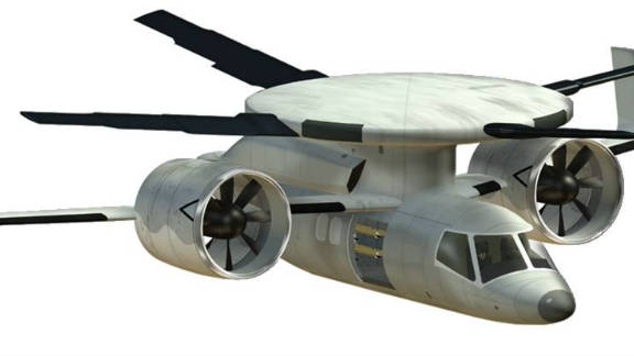 The Disc-Rotor program aims to develop a new type of aircraft capable of transitioning from hovering like a helicopter to flying like a plane (artist's impression).