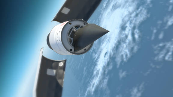The ultimate goal of the Falcon program is to create a vehicle that can fly anywhere in the world in less than an hour. DARPA has already produced and flown the HTV-2 -- an unmanned, rocket-launched aircraft that travels at Mach 20 -- about 13,000 miles per hour (artist's impression).