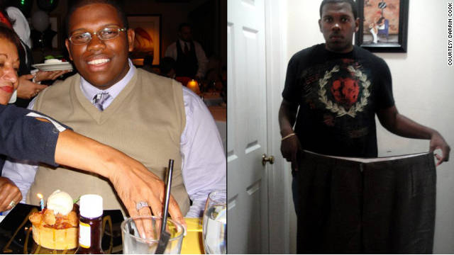 Darrin Cook dropped 175 pounds, going from a size 56 to a size 36 size pant.