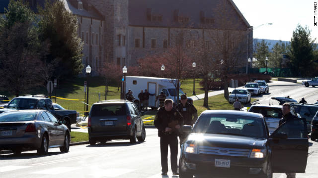 Virginia Tech shooting scene
