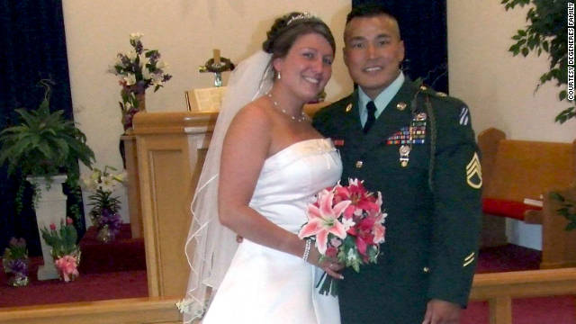 "Amanda and Daniel were sent shortly after their wedding to Iraq. ""That was our honeymoon -- Iraq,"" Amanda said."