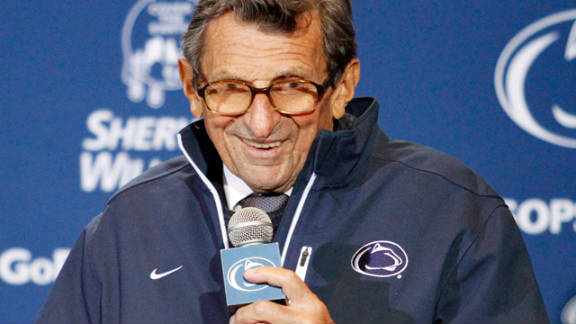 """Penn State trustees on Thursday announced Joe Paterno """"remains employed by the university as a tenured faculty member."""""""