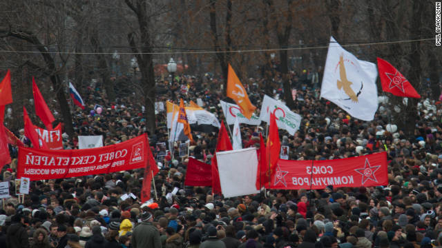 Thousands gather for Moscow protest