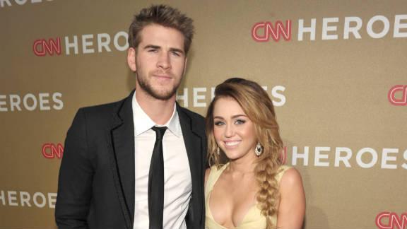 Actor Liam Hemsworth and Singer Miley Cyrus.