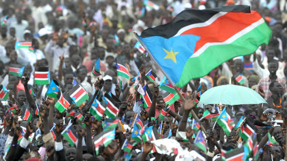 South Sudan celebrates its new-found independence on 9 July 2011.