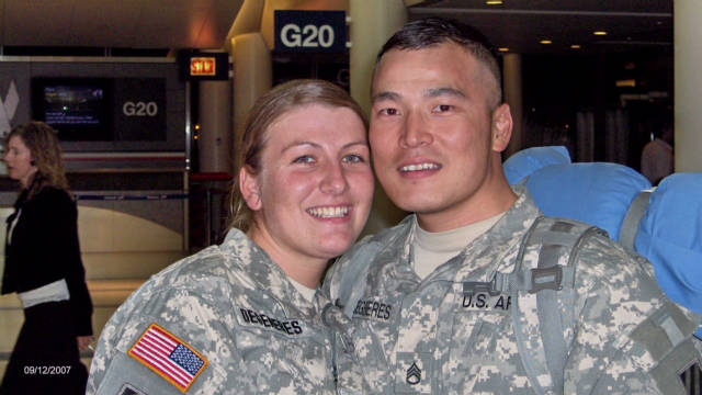 Couple deployed for their honeymoon