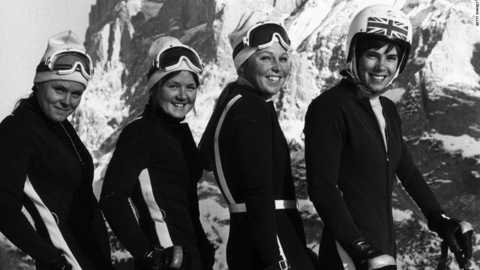 Before discovering motorsport, Galica (far right) was an Olympic skier. She was captain of the British ski team and competed at the Winter Olympics in 1964, 1968 and 1972. Until March 2007, Galica held the female British speed skating record, clocking 125 miles per hour in 1994.