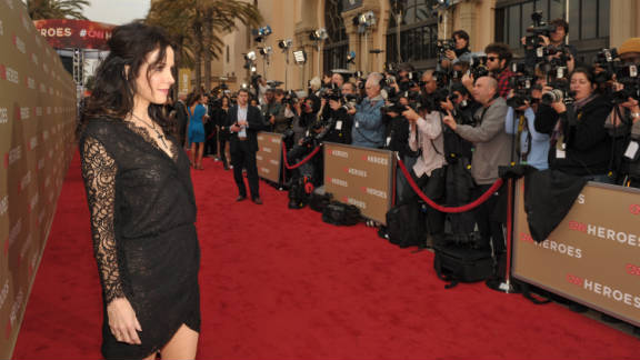 Actress Mary-Louise Parker poses for photographers.