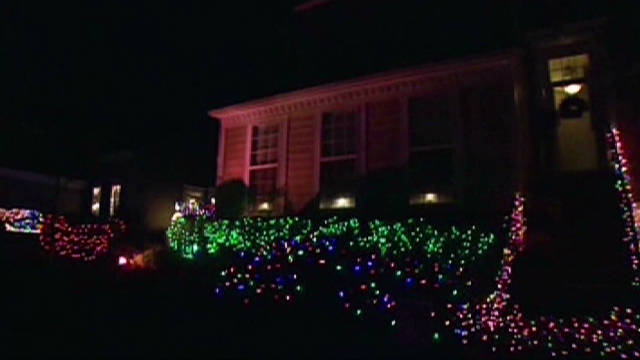 Woman battles for Christmas lights