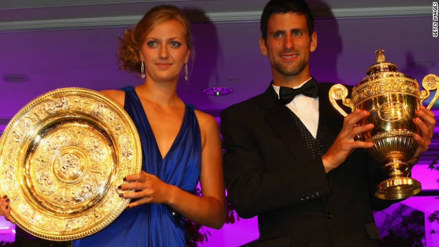 Petra Kvitova of the Czech Republic and Serbia's Novak Djokovic were both victorious at Wimbledon in July.