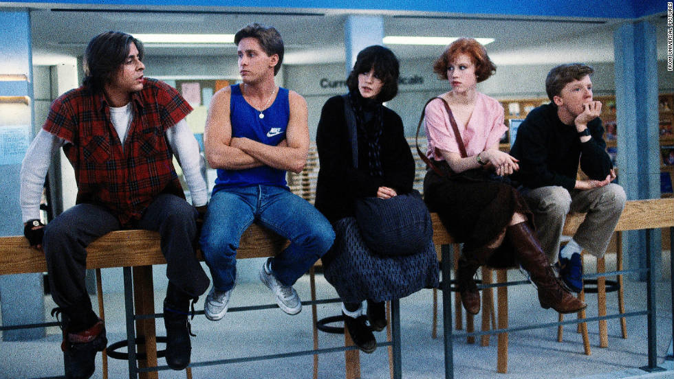 "Hughes' '80s teen films, such as ""Sixteen Candles"" and ""The Breakfast Club"" (pictured), were unapologetically set in an upscale Chicago suburb. Though his characters grappled with growing up, none of them was dismissive of their hometowns -- though at least one of them, Ferris Bueller, had a great time in the big city."