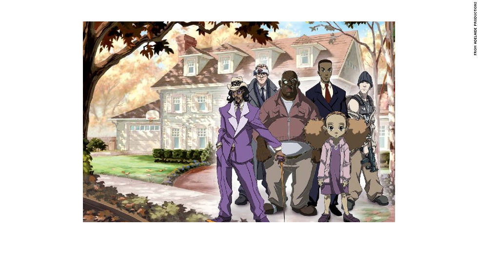 The Aaron McGruder comic strip and TV program pit a pair of South Side Chicago African-American brothers against the suburban culture of Woodcrest, which includes such streets as Timid Deer Lane.