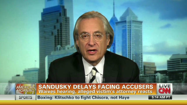 Sandusky victim lawyer on waived hearing