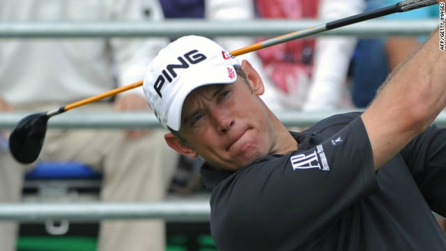 Lee Westwood hits another arrow straight drive during his superb round of 60 in Thailand.