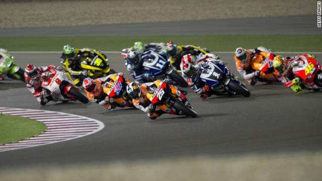 The 2012 MotoGP season will get started on April 8 with a night race in Doha, Qatar.