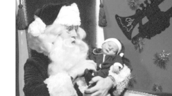 In 1972, Santa Tim, then a college student, posed at Bullock