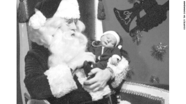 In 1972, Santa Tim, then a college student, posed at Bullock's department store with his brother Marcus, now 39.