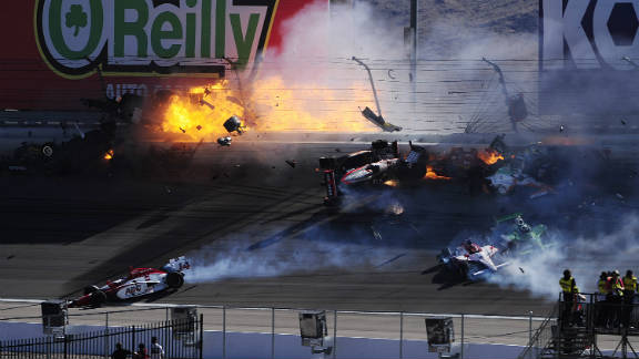 The horrific crash at Las Vegas Motor Speedway on October 16 claimed the life of England