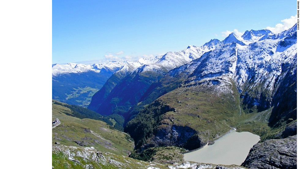 "Nadine Hamad snapped this shot of ""the view of the reservoir from the Franz-Josephs Hohe, the prime viewpoint for the majestic Grossglockner Mountain"" in Austria."